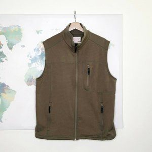 CC Filson Co Men's Full Zip Vest Size Large Brown